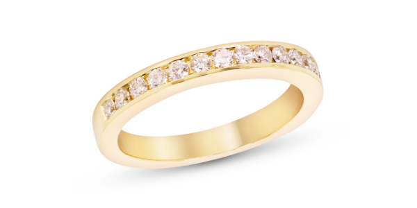 Channel Set gold Diamond Eternity Ring