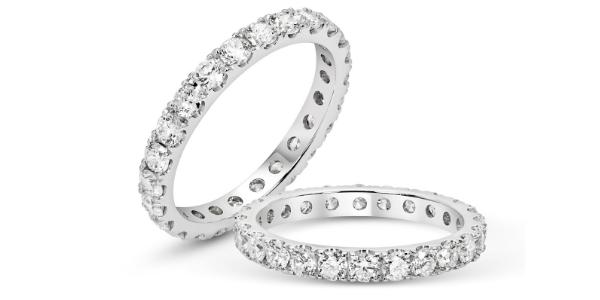 Channel Set Diamond Eternity Rings