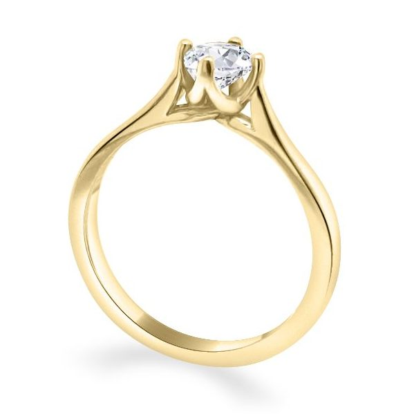 Adel Diamond Solitaire Engagement Ring gold standing