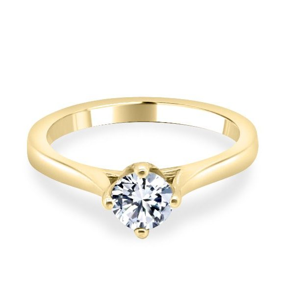 Adel Diamond Solitaire Engagement Ring in Gold