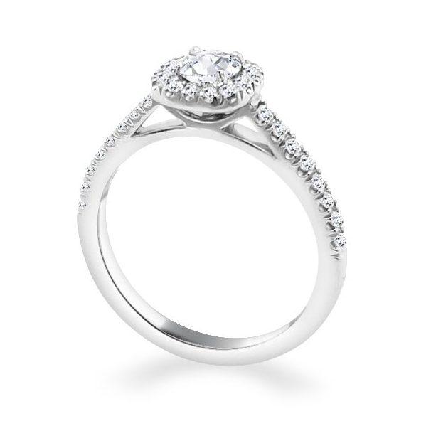 Anna Diamond Shoulder Engagement Ring white - standing