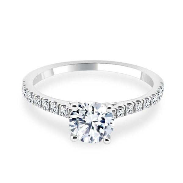 Ariana Diamond shoulder Engagement Ring
