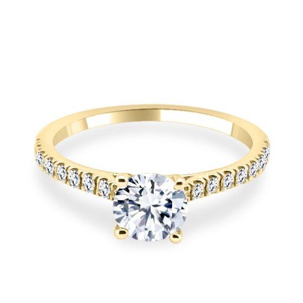 Ariana Diamond Princess Cut Gold Flat