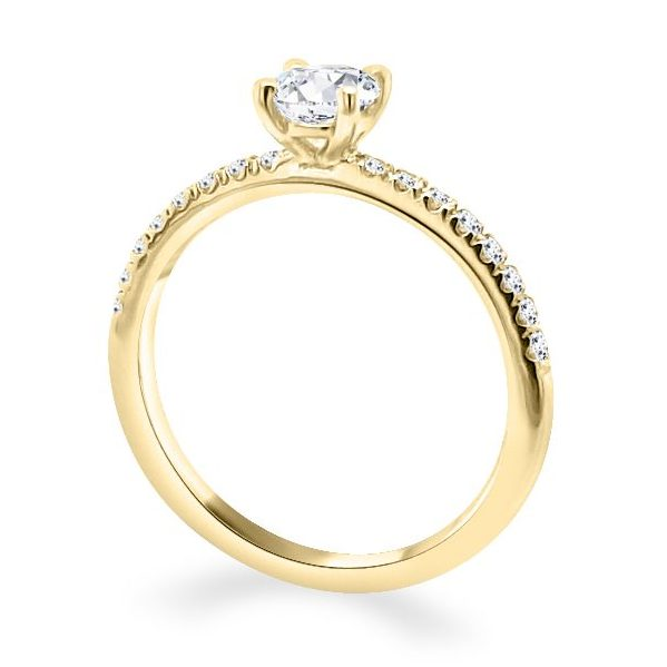 Ariana Gold Diamond Solitaire Engagement Ring