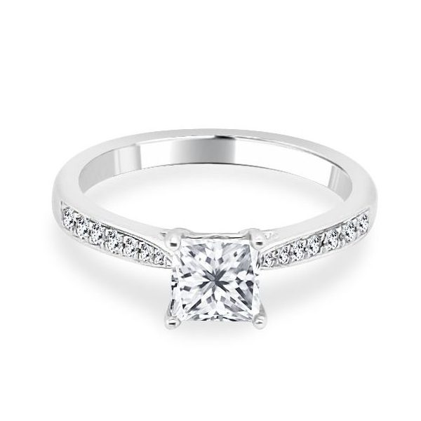 Davina Diamond Shoulder Engagement Ring