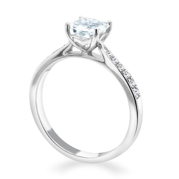 Davina Princess cut Diamond Shoulder Engagement Ring white standing.jpg