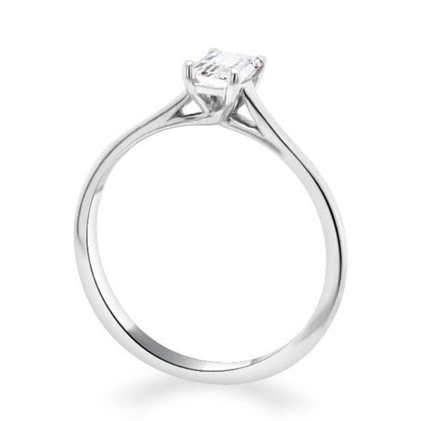Ella Diamond Emerald Solitaire Engagement Ring