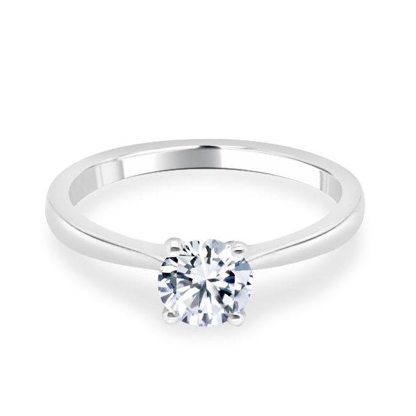 4 Claw Lotus Diamond Engagement Ring - Lois flat