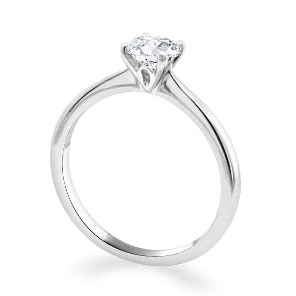 4 Claw Lotus Diamond Engagement Ring - Lois standing