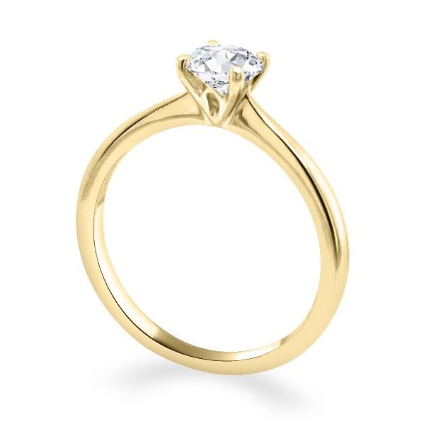 4 Claw Lotus Gold Diamond Engagement Ring - Lois standing