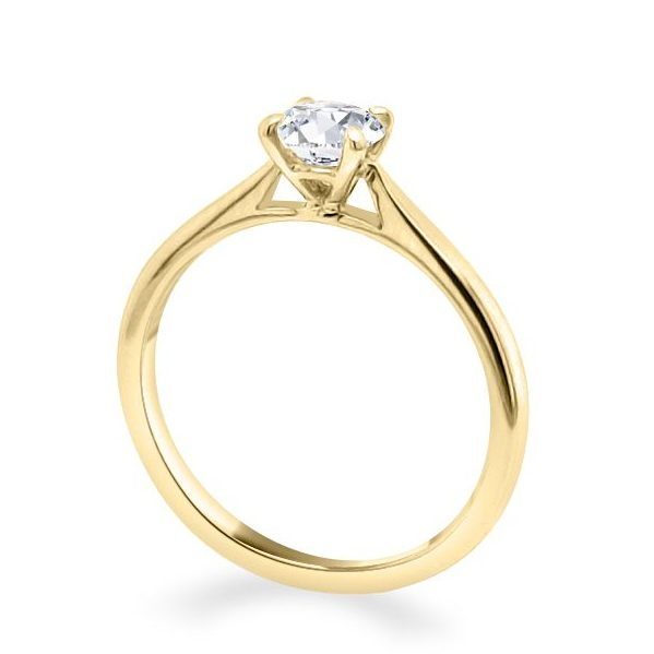 Alice Diamond Solitaire Engagement Ring Gold standing