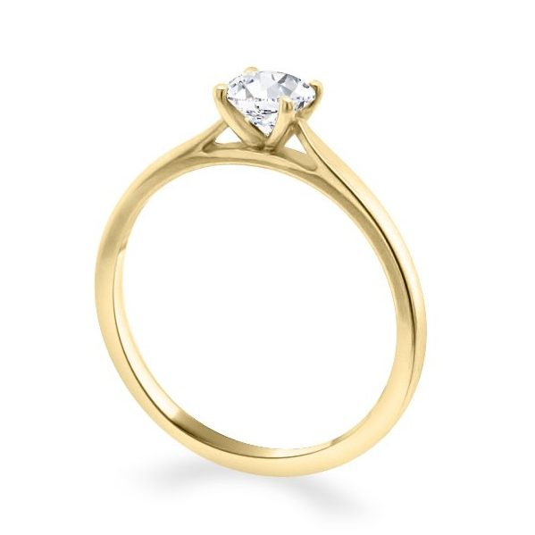 Georgia Diamond Solitaire Engagement Ring Gold standing