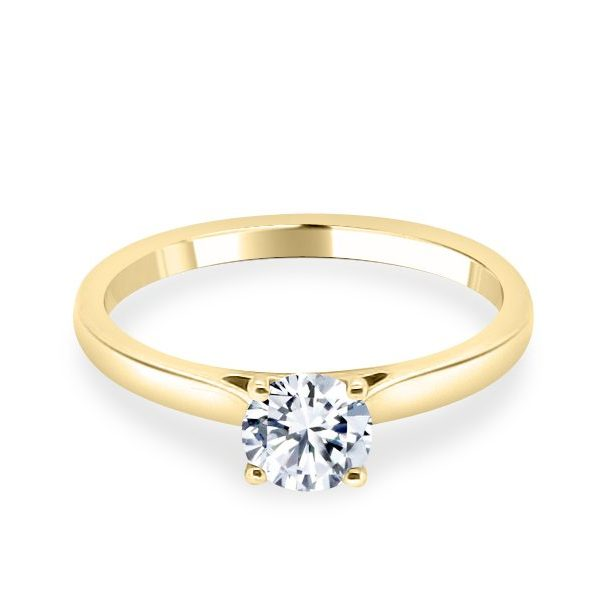Georgia Diamond Solitaire Engagement Ring gold