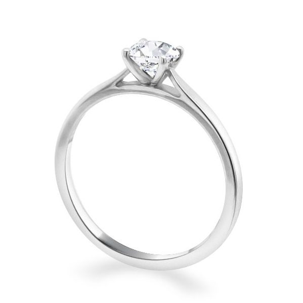 Georgia Diamond Solitaire Engagement Ring white standing