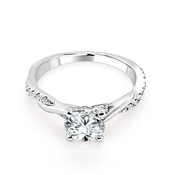 Estelle Diamond shoulder engagement ring platinum