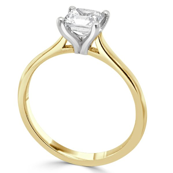 Fae Diamond Solitaire engagement ring gold