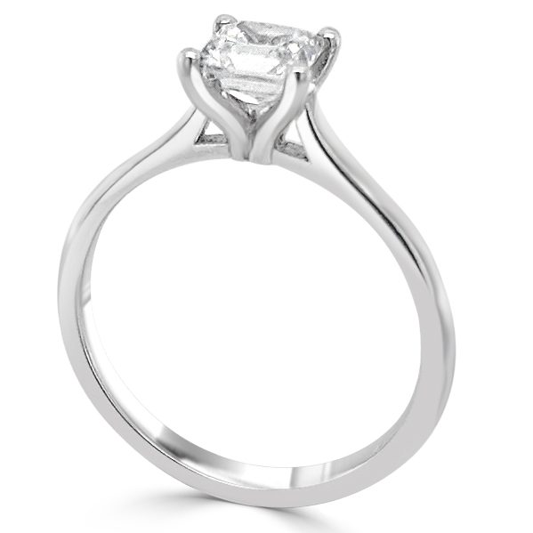 Image of Fae Diamond Solitiare Engagement Ring standing