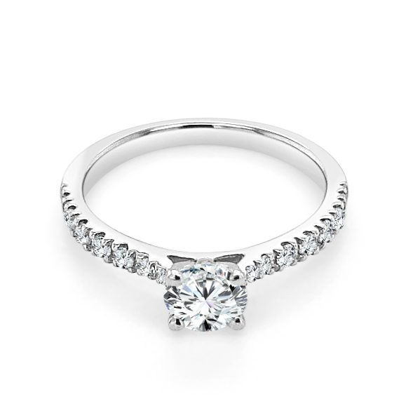 Floria Diamond shoulder engagement ring platinum