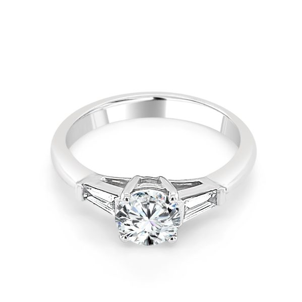 Jacquelyn Diamond Solitaire engagement ring platinum