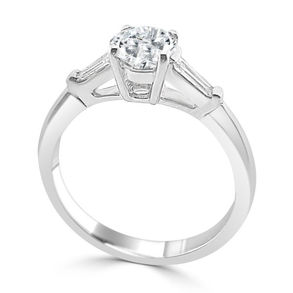Image of Jacquelyn Diamond Trilogy Engagement Ring standing
