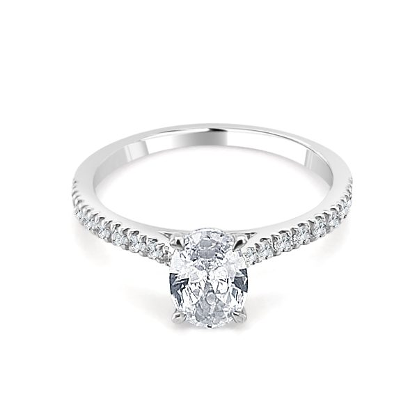 Noelle Diamond Shoulder Engagement Ring