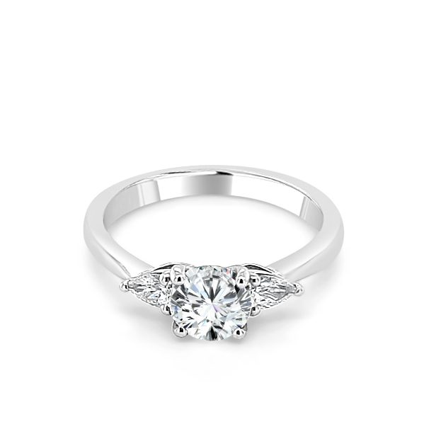 image of Odette Diamond Solitaire engagement ring platinum