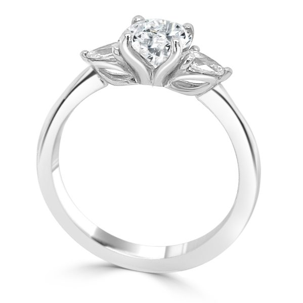 image of Odette Diamond Trilogy Engagement Ring standing