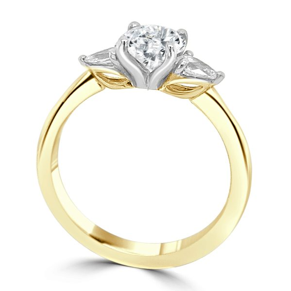 Odette Diamond Trilogy engagement ring Gold