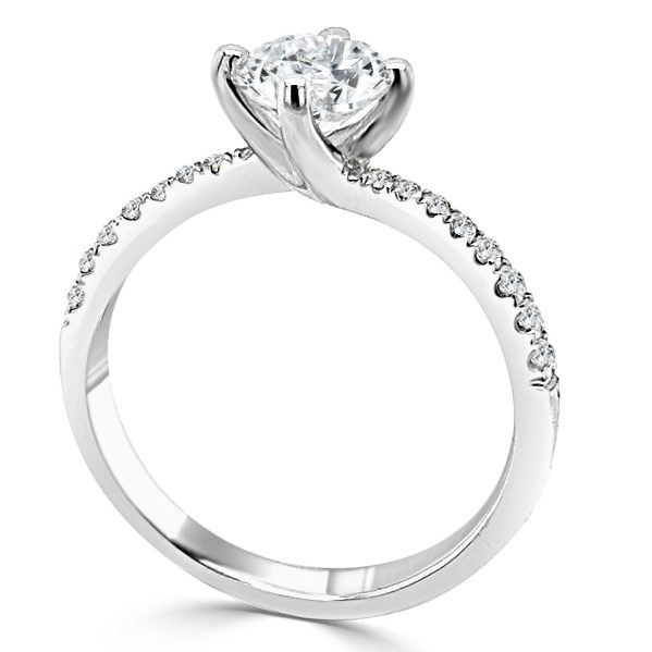 Picture of Sandra Diamond Shoulder Engagement ring standing