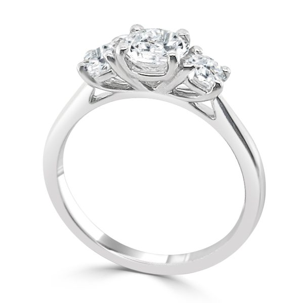 image of the Tilda Diamond Trilogy Engagement Ring standing
