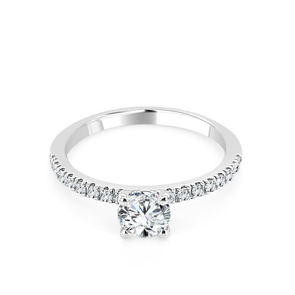 Viviene Diamond shoulder engagement ring platinum