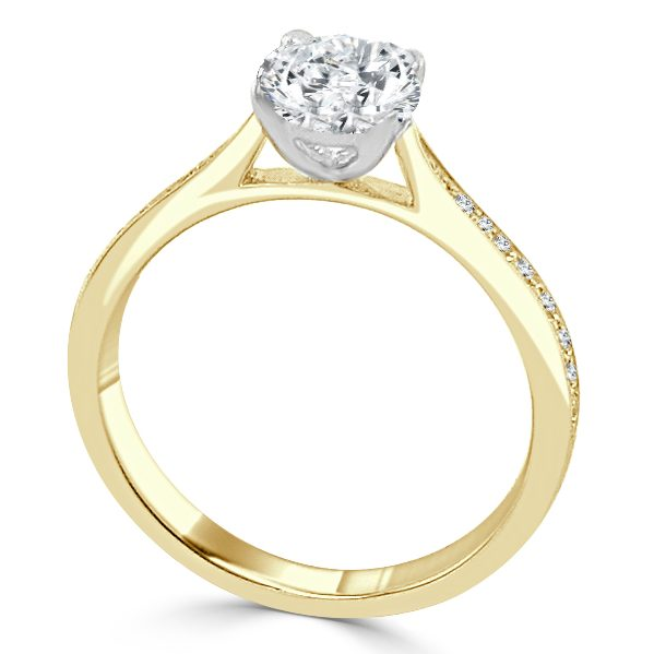 Yvonne Diamond Solitaire engagement ring Gold