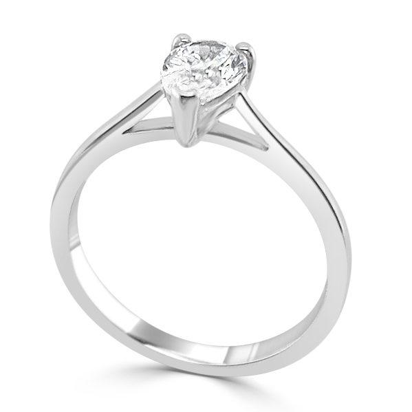 image of Zuria Diamond Engagement Ring standing