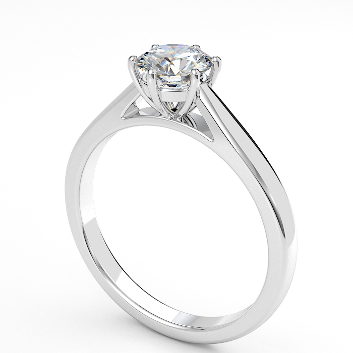 image of Esme diamond solitaire engagement ring