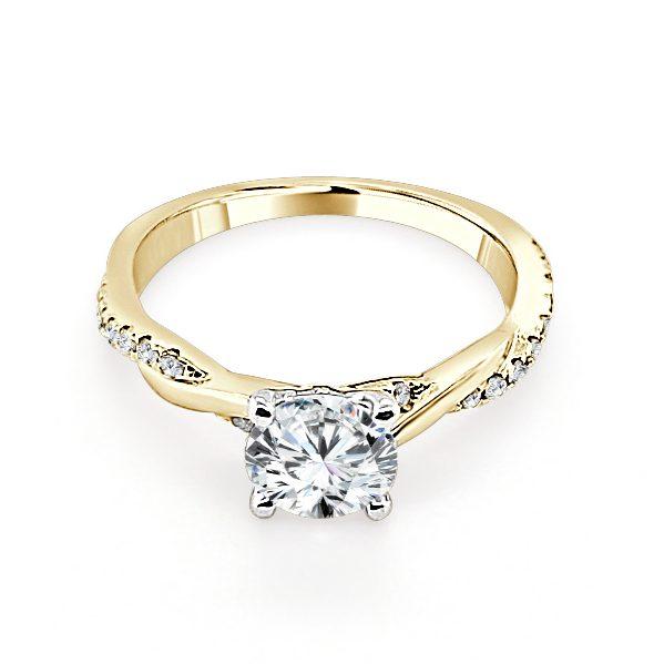 image of Estelle Gold Diamond Engagement Ring