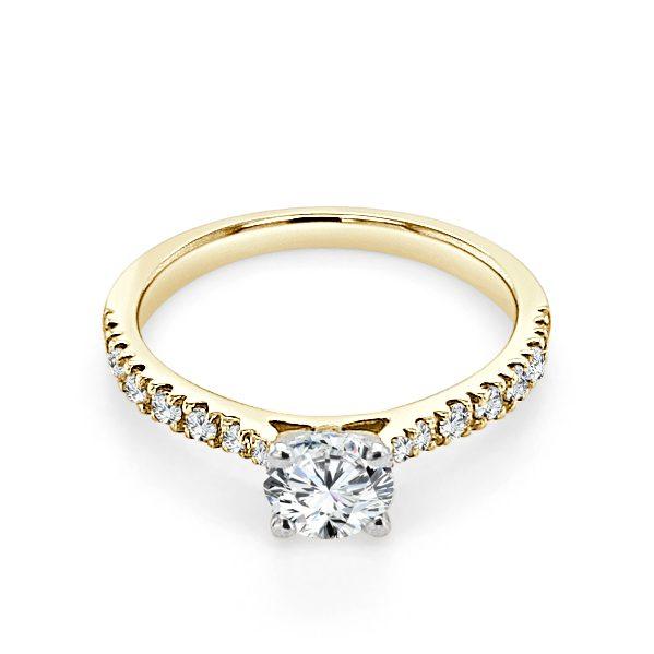 images Floria Gold Diamond Engagement Ring