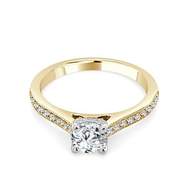 image if the Iva Gold Diamond Engagement Ring