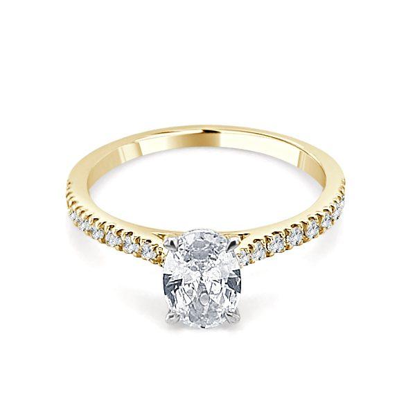 Image of Noelle Gold Diamond Engagement Ring