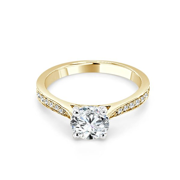 Image of Yvonne Gold Diamond Engagement Ring