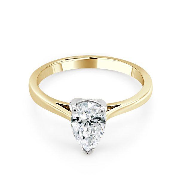 Image Zuria Gold Diamond Engagement Ring