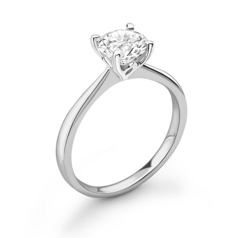platinum gold lotus 1ct engagement ring