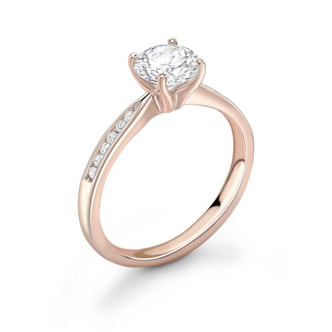 1 Carat Rose Gold Diamond Shoulder