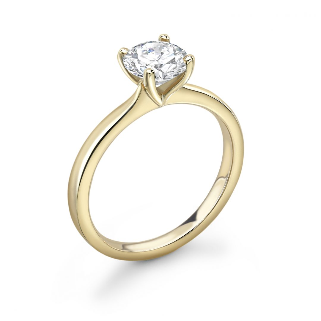 Gold Tuplip 1 Carat Diamond engagement Ring