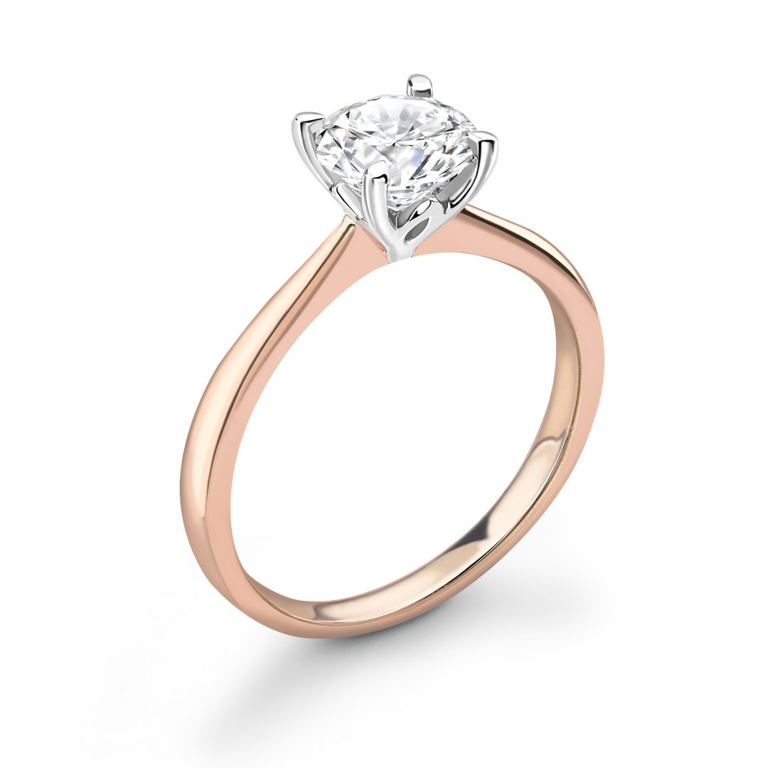 1 Carat Rose Gold Lotus Engagement Ring