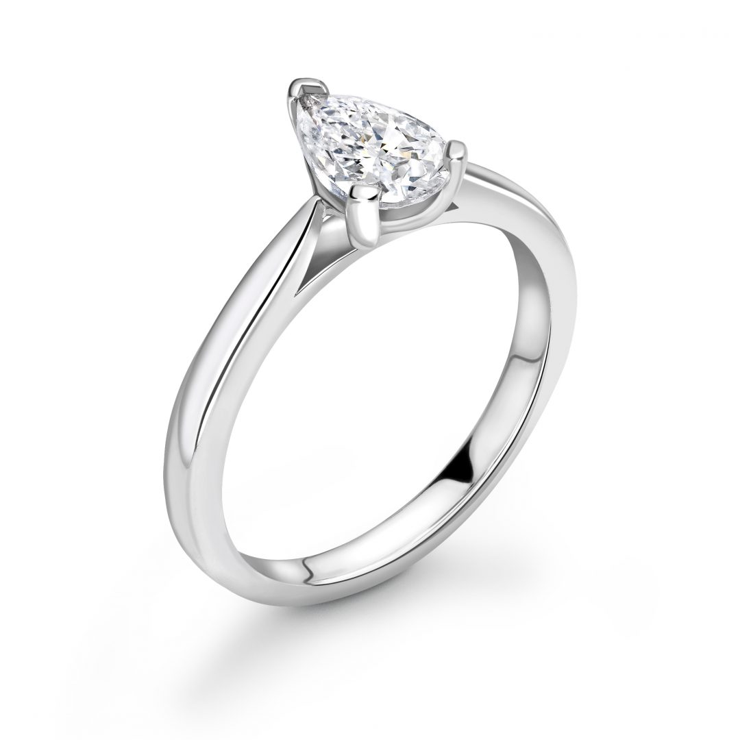 1 Carat Pear shape Diamond Engagement Ring