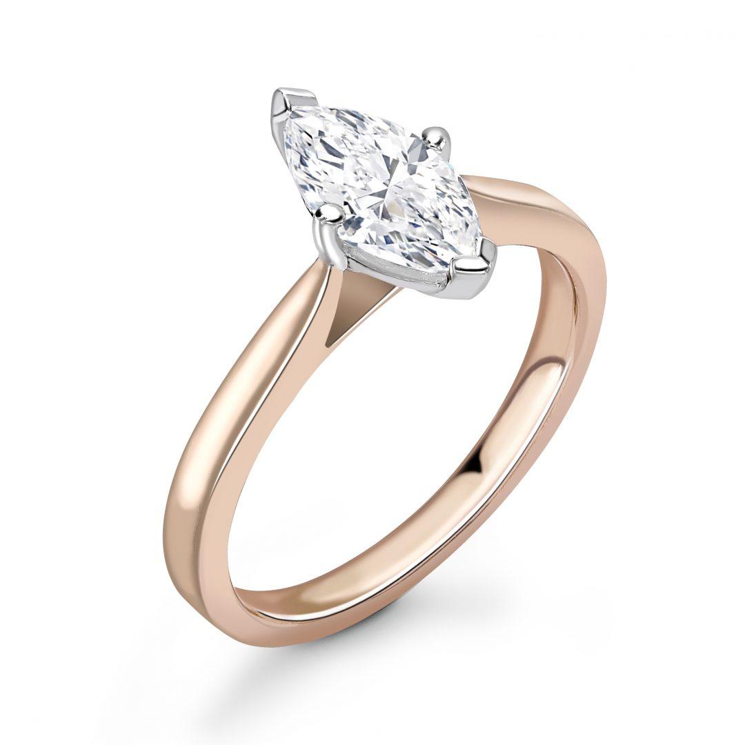 1 Carat Marquise Diamond Engagement Ring