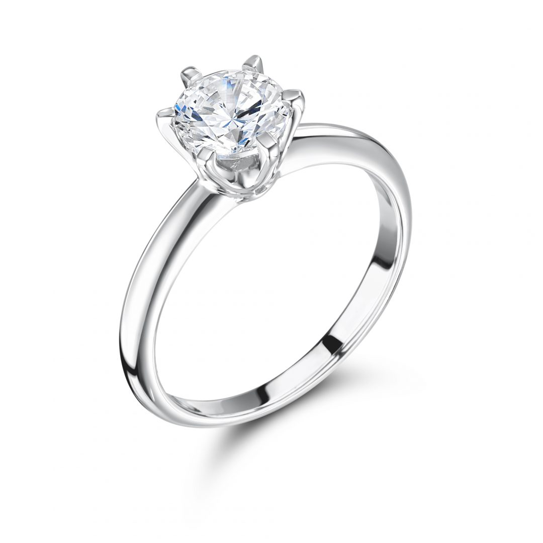 1 Carat 6 claw classic engagement ring