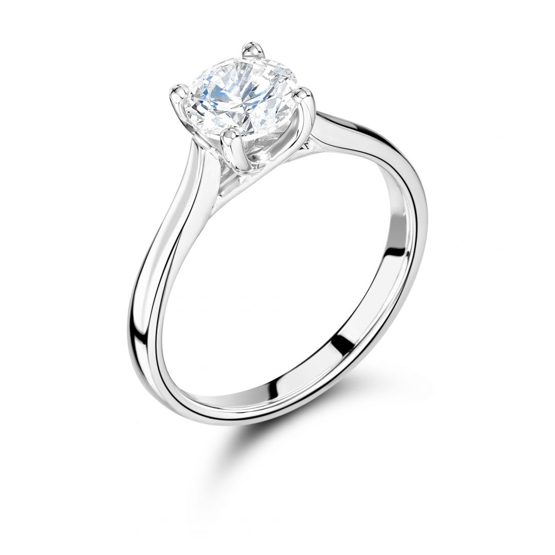 4 claw 1 carat engagement ring