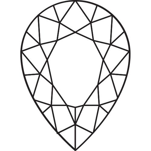 Pear cut diamond rings